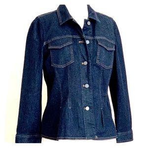 NEW!!! Ann Taylor Peplum Denim Jacket